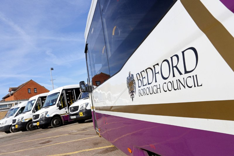 One of Bedford's fleet of passenger vehicles