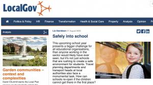 Screenshot of article on Local Gov website