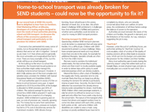 Screenshot of article in Education Today
